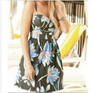 LC Lauren Conrad Fit N Flare Floral Bustier Dress